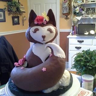 Foxy Birthday Cake