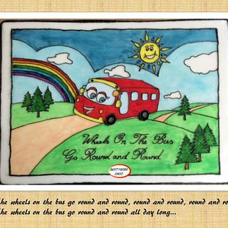 Wheels on the Bus – Nursery Rhyme Collaboration - Cake by Sweet Fusion Cakes (Anjuna)