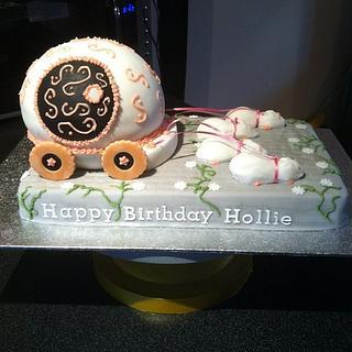 Princess carriage cake