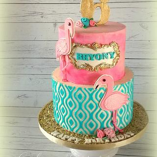 Flamingo Golden Birthday