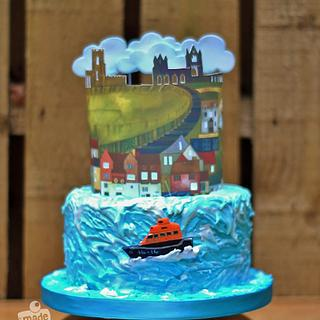 RNLI Cake Collaboration - Whitby Harbour Skyline