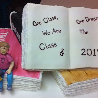 8th grade grad cake