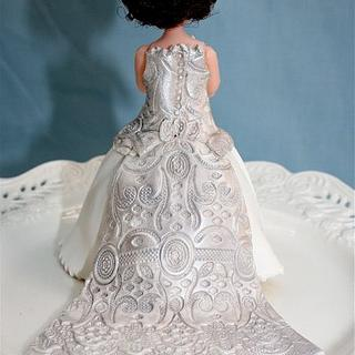 Mini Wedding Doll Cake
