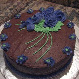 My first buttercream rose cake - Cake by Tamara Bemiss