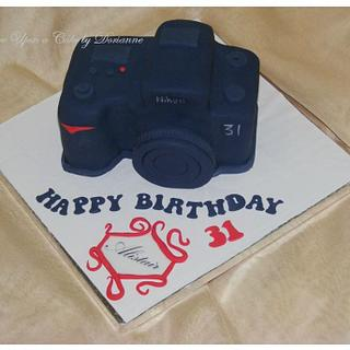 Camera Sculpted Cake