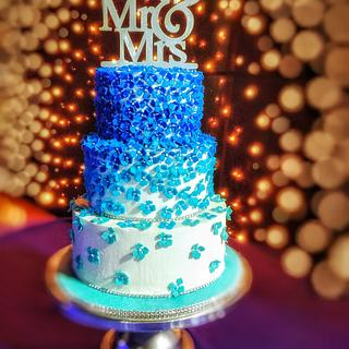 A Blue and silver wedding