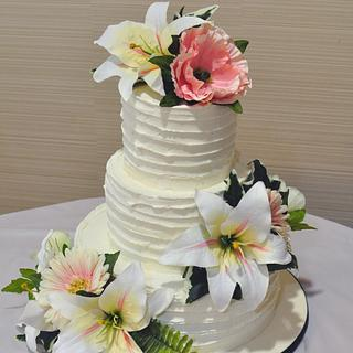 Star Lilly Wedding Cake - Cake by Cakes For Fun