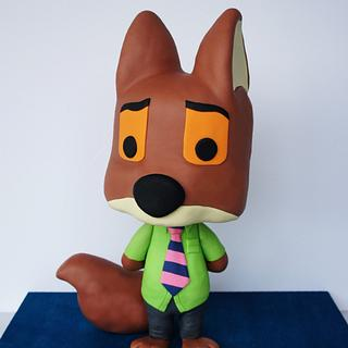 3D Fox Cake