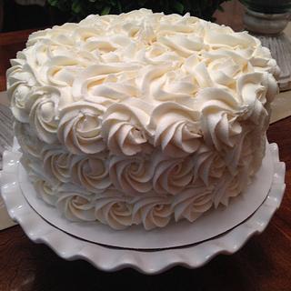 Rose Swirls - Cake by Susan Russell