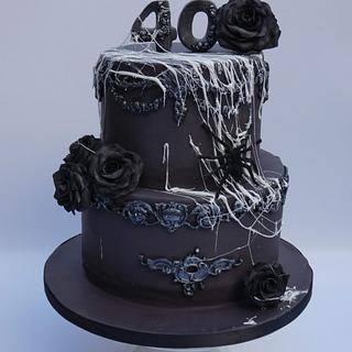 Black halloween birthday