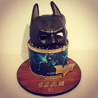 Double sided Batman and Masters of Horror birthday cake