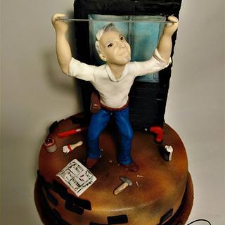 Glasser man realistic cake figure
