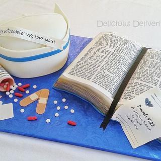 Nurse and Pastor Cake
