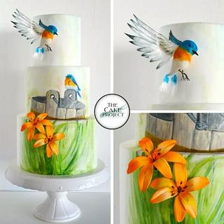 Eastern bluebirds  - Cake by TheCakeProjectCH