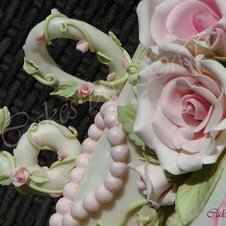 Rose Vines : A 60th birthday Cake