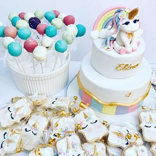 Set of sweet unicorn