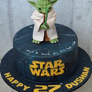 Star wars yoda  - Cake by designed by mani