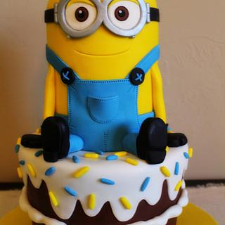 My First Minion - Cake by Kendra