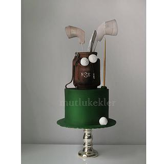 Golf Cake - Cake by Caking with love