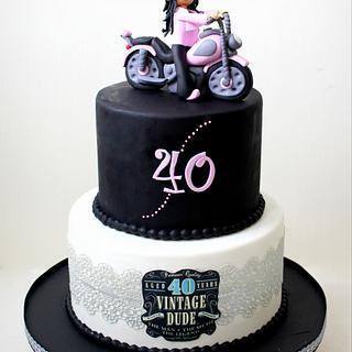 Biker Chick going 40