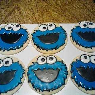 cookie monster cookies - Cake by CC's Creative Cakes and more...