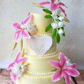 Tiger Lily's Wedding Cake.