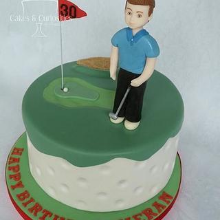 30th Golf cake