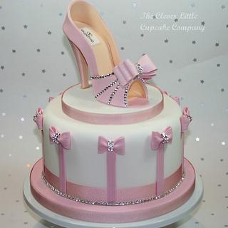 Pink Shoe Celebration Cake - Cake by Amanda's Little Cake Boutique