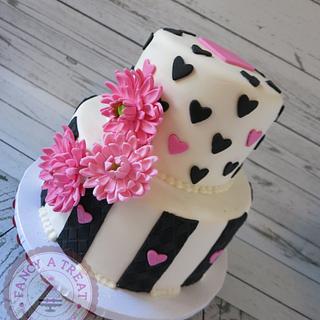 Pops of pink - Cake by Fancy A Treat