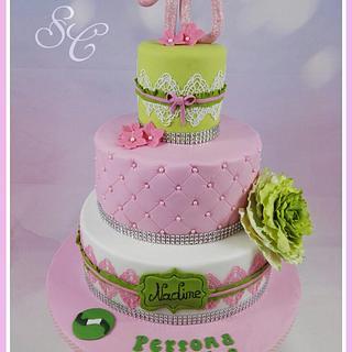 Pink & green - Cake by Sandy's Cakes - Torten mit Flair