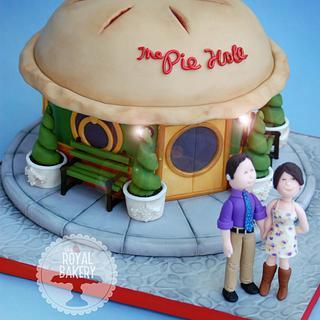The Pie Hole Wedding Cake - Cake by Lesley Wright