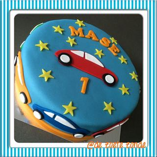 Boy's cake with cars