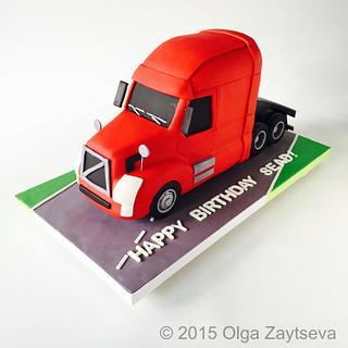 Truck cake.
