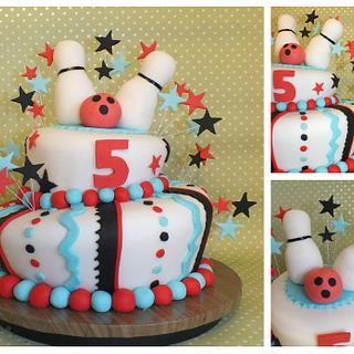 bowling wonky cake