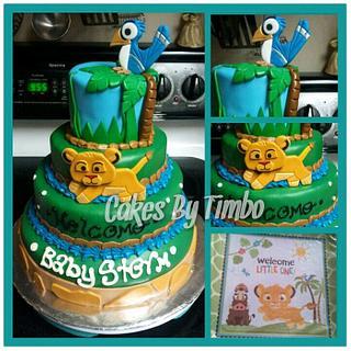 Baby Simba Cake!