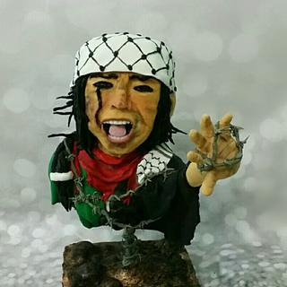 Palestine in the heart collaboration - Cake by Dina Wagd Alhwary