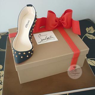 Louboutin Shoe & Shoe Box Cake