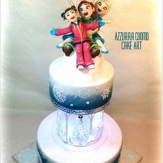 Frozen cake: do you wanna play???♡