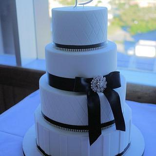 Diamante Quilted Wedding Cake