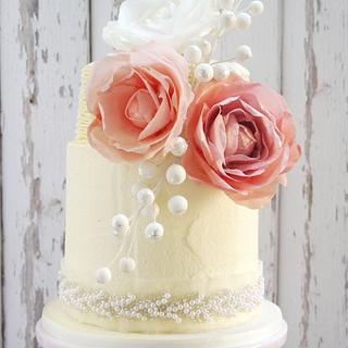 Naomi Frosted Wedding Cake