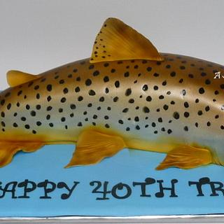 Life size trout cake
