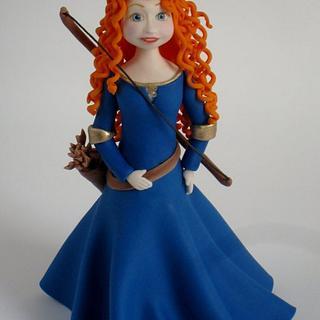 """Merida """"Brave"""" sugar figure - Cake by Karla (Sweet K)"""