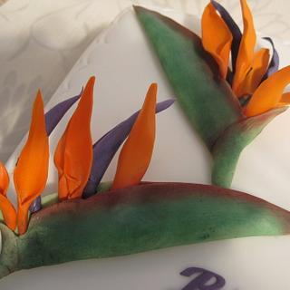Birds of Paradise Cake - Cake by Deborah Cubbon (the4manxies)