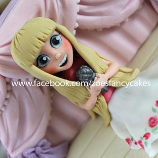 Pink birthday girl cake! - Cake by Zoe's Fancy Cakes