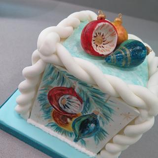 Retro Christmas cake