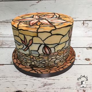 Stained glass cake - Cake by My Cake Day