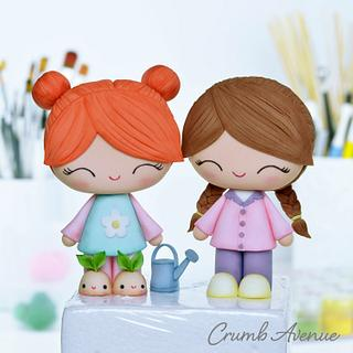 Cute Girl Cake Toppers