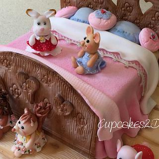 Sylvanian Families Sleepover Cake