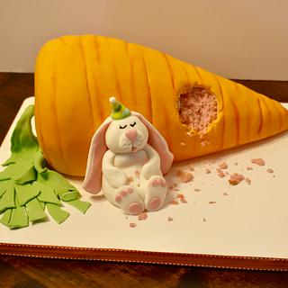 Giant carrot and bunny  - Cake by Misty