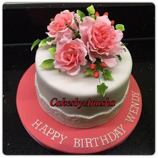 Cake for woman. - Cake by CakesbyAnusha